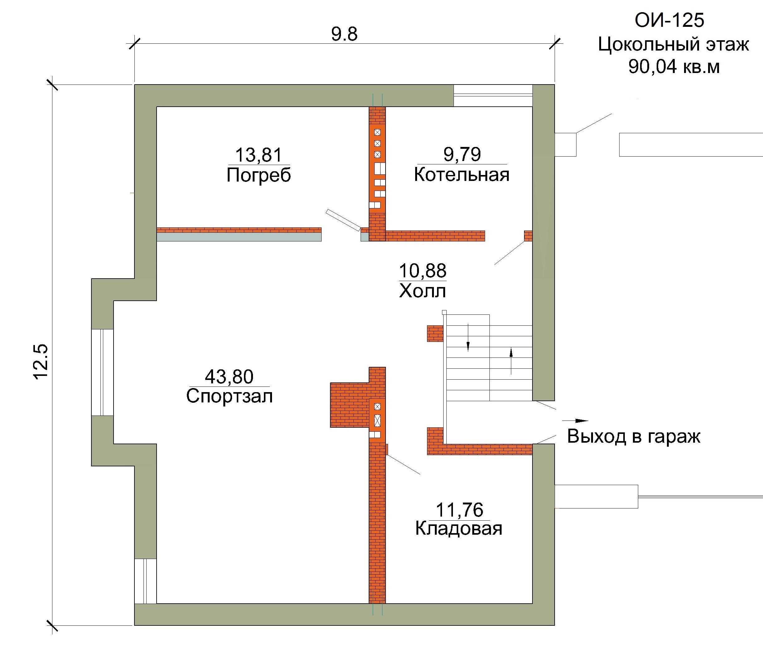 Проект коттеджа 343кв. м / Артикул ОИ-125 план