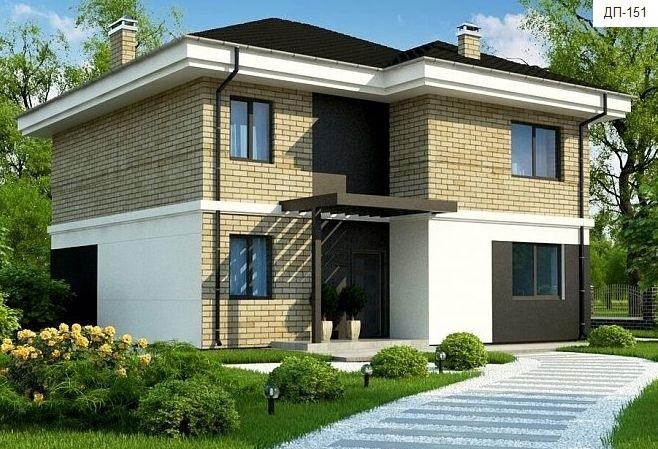 Готовый проект коттеджа 190 кв. м / Артикул ДП-151 фасад