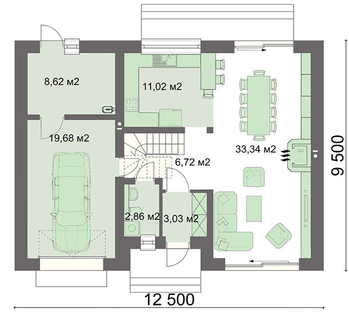 Проект дома 4m773 план