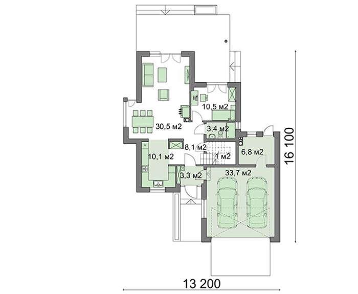 Проект дома 4m407 план