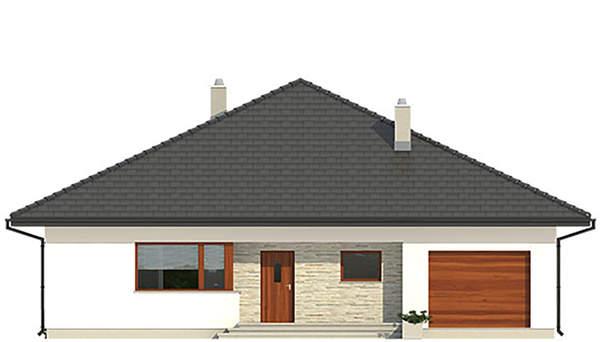Проект дома 4m580 фасад