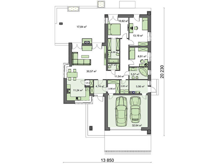 Проект дома 4m786 план