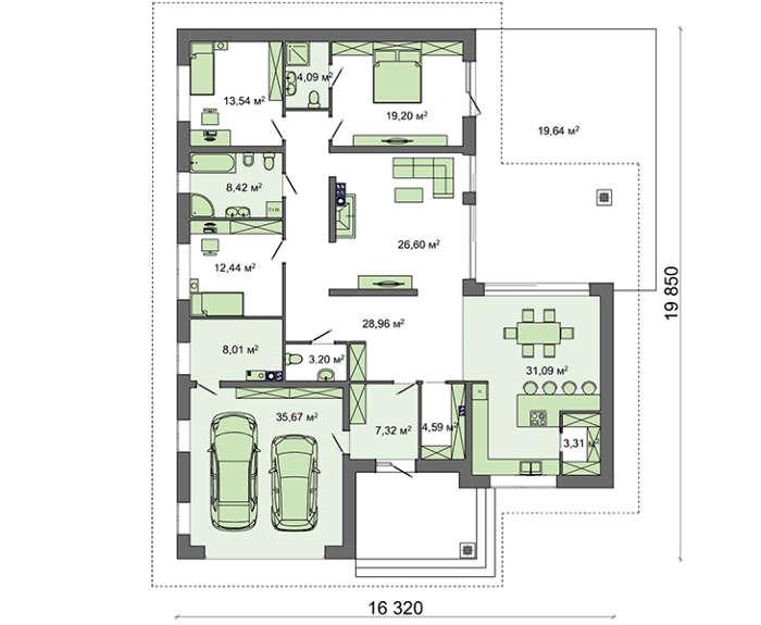 Проект дома 4m579 план