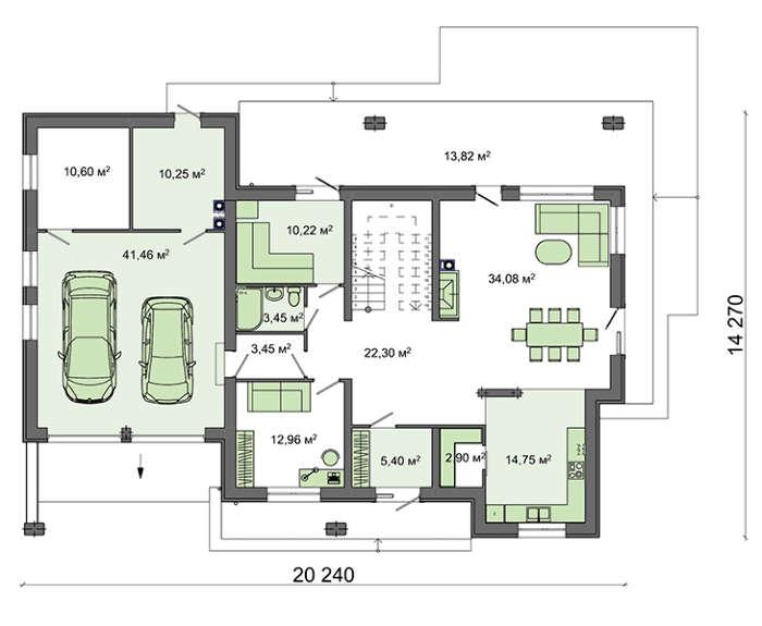 Проект дома 4m587 план