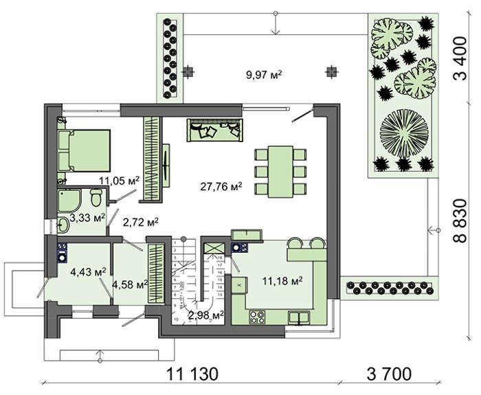 Проект дома 4m589 план