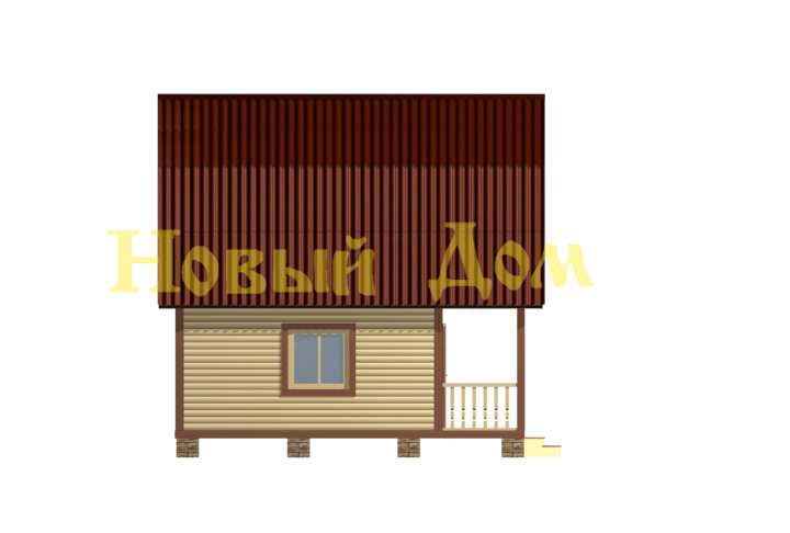 Дом из бруса. Проект Д-10-Л. фасад