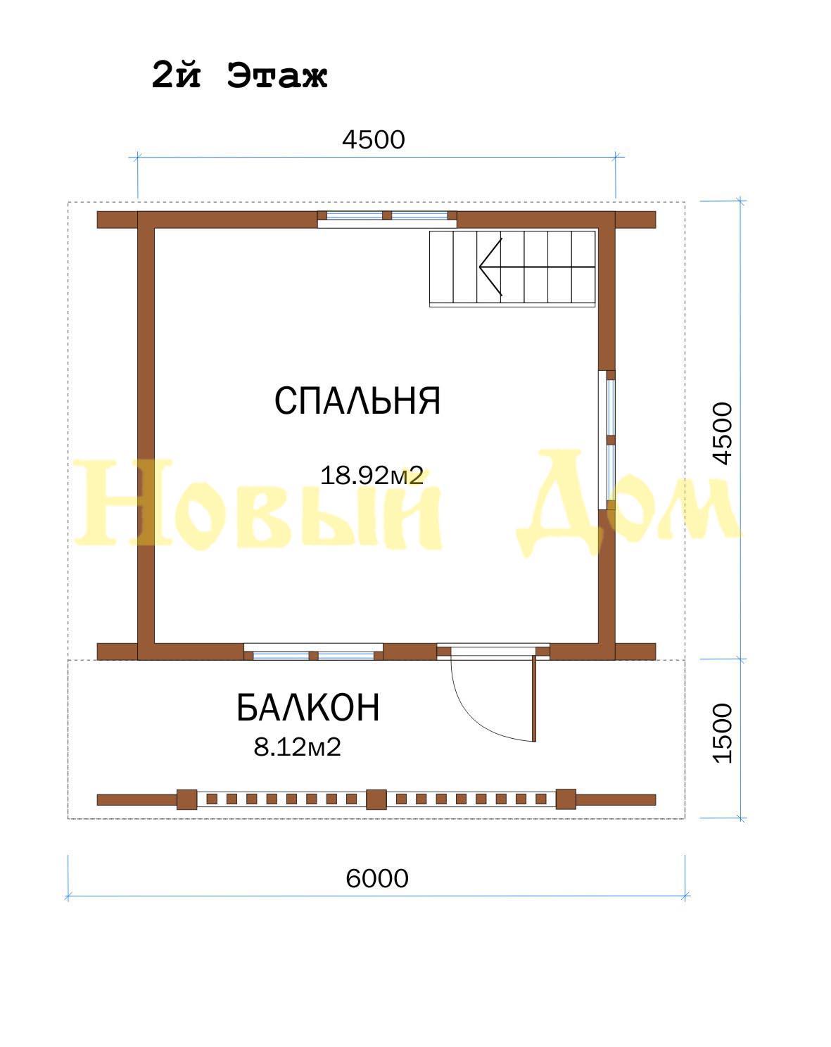 Дом из бруса. Проект Д-10-Л. план