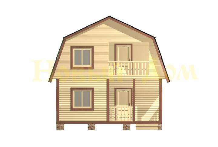 Каркасный дом. Проект Д-11-Л. фасад