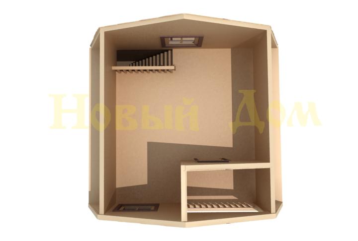 Каркасный дом. Проект Д-11-Л. план