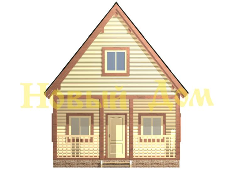 Дом из бруса. Проект Д-12-К. фасад