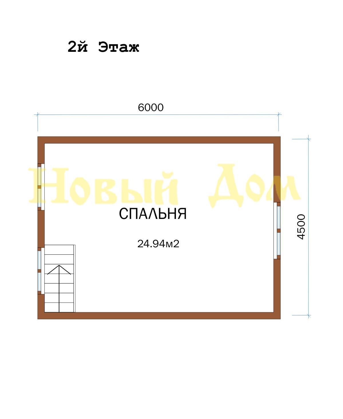 Дом из бруса. Проект Д-12-К. план
