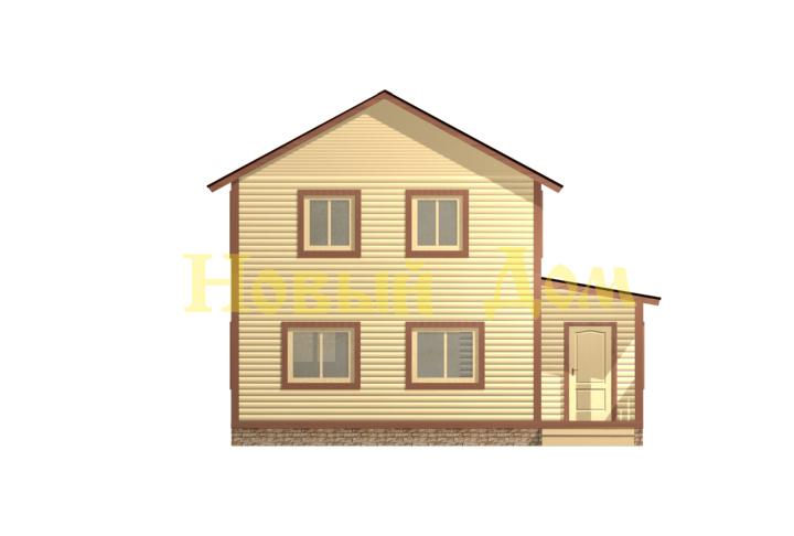 Каркасный дом. Проект Д-23-К. фасад