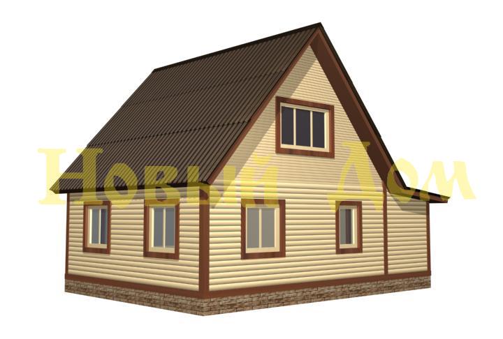 Каркасный дом. Проект Д-20-К. фасад