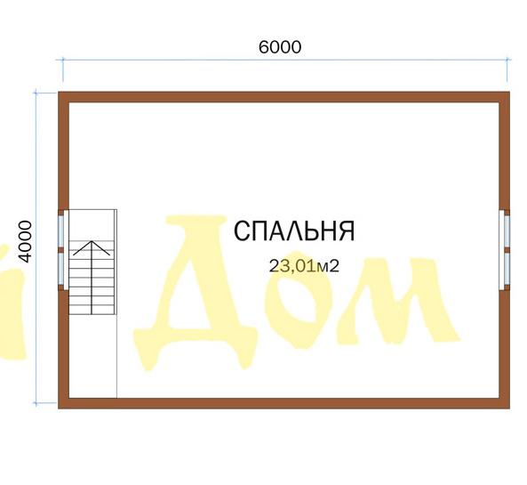 Каркасный дом. Проект Д-20-К. план