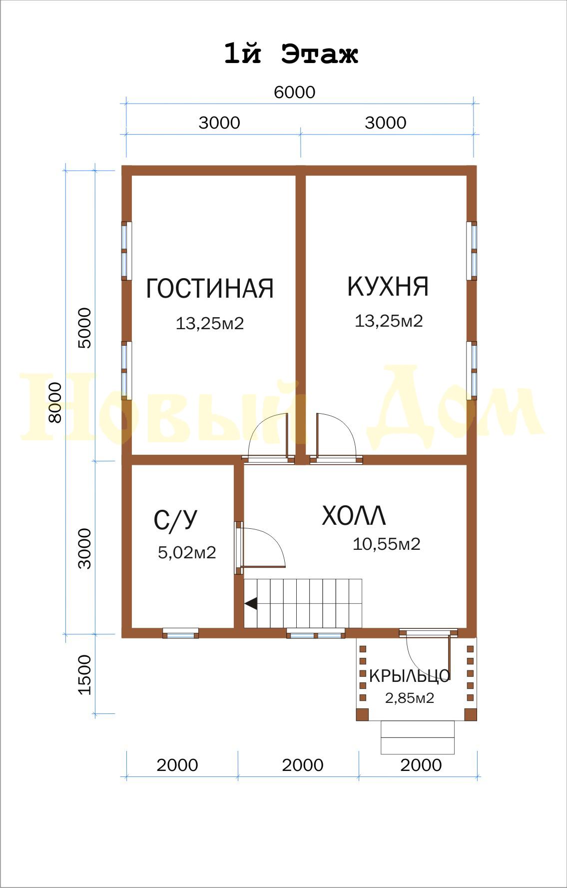 Проект дома Д-24-К. план