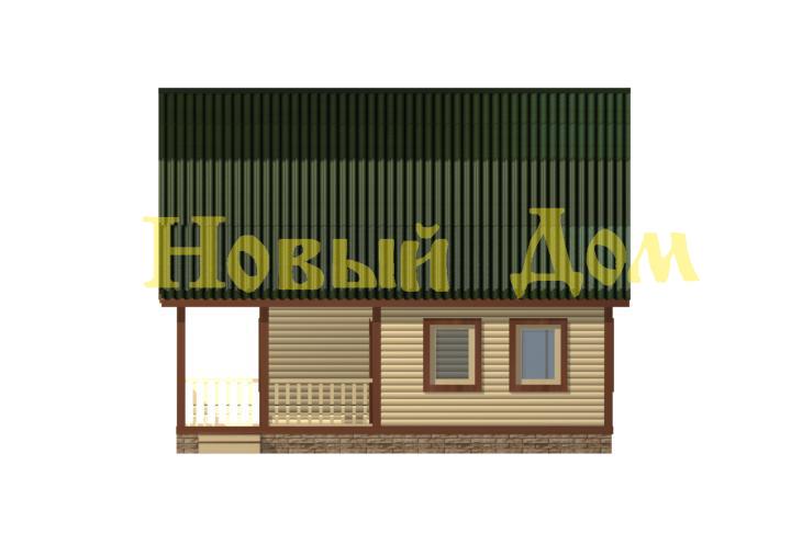 Проект дома Д-25-К фасад