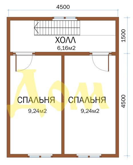 Проект дома Д-25-К план