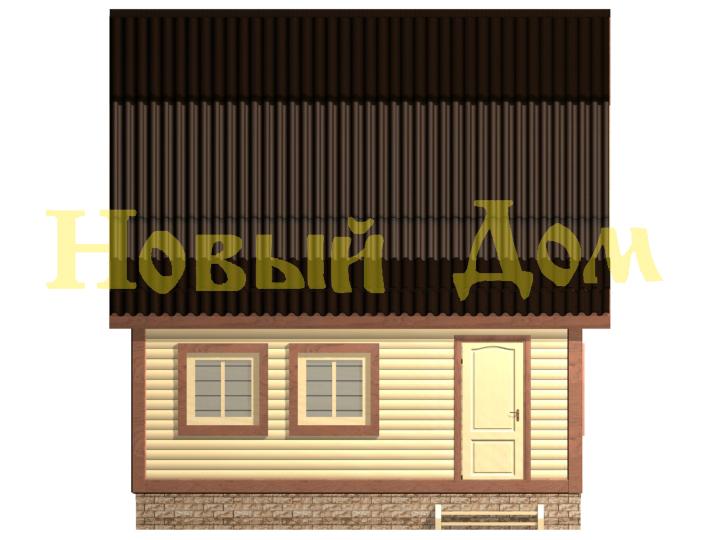 Проект дома 6х9 Д-27-Л. фасад