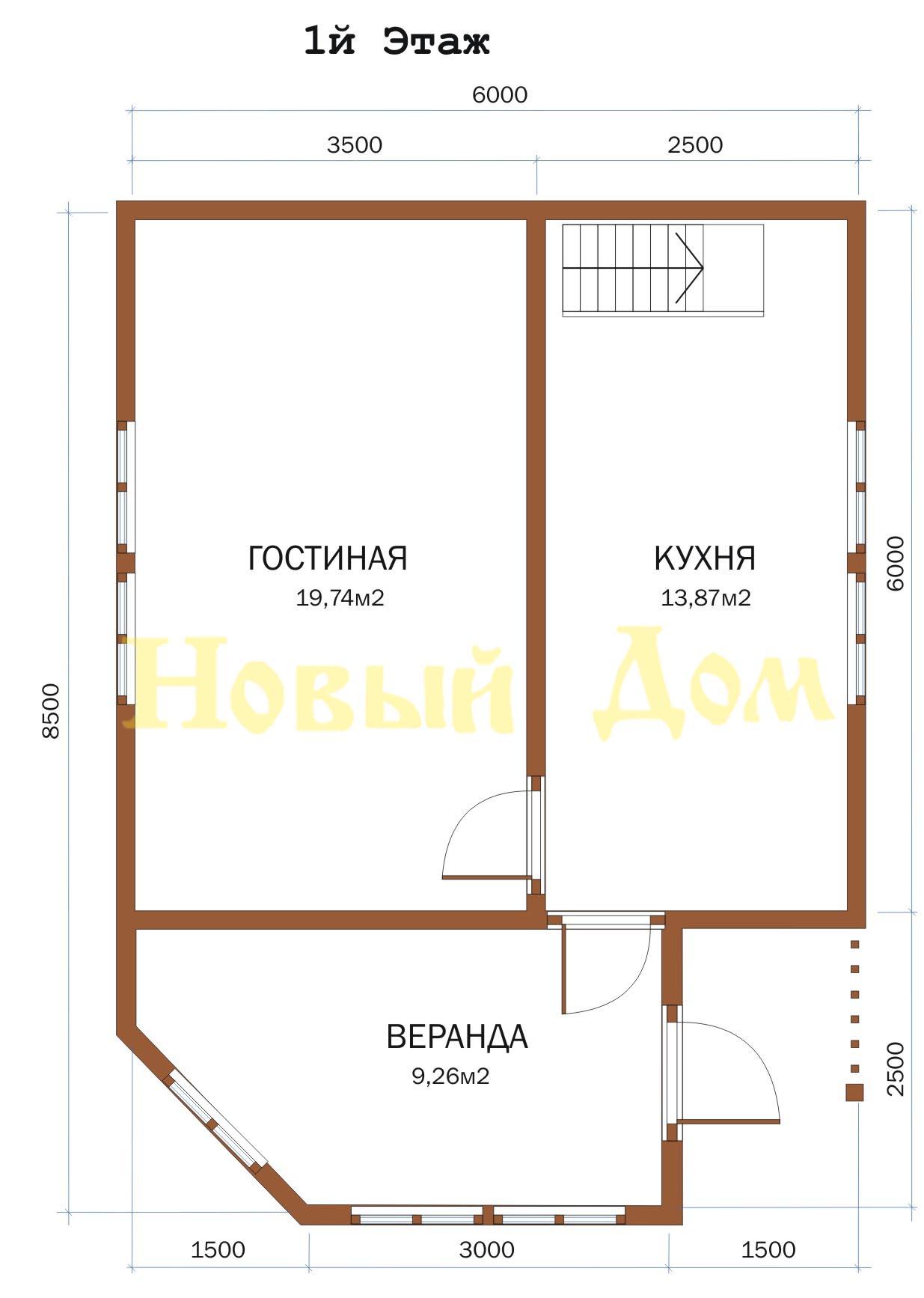 Проект дома Д-28-КЭ план