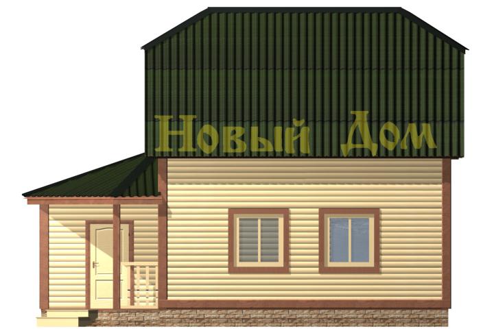 Проект дома Д-28-КЭ фасад