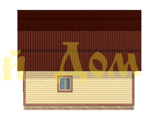 Дом с баней.Проект Д-33-ЛЭ. фасад