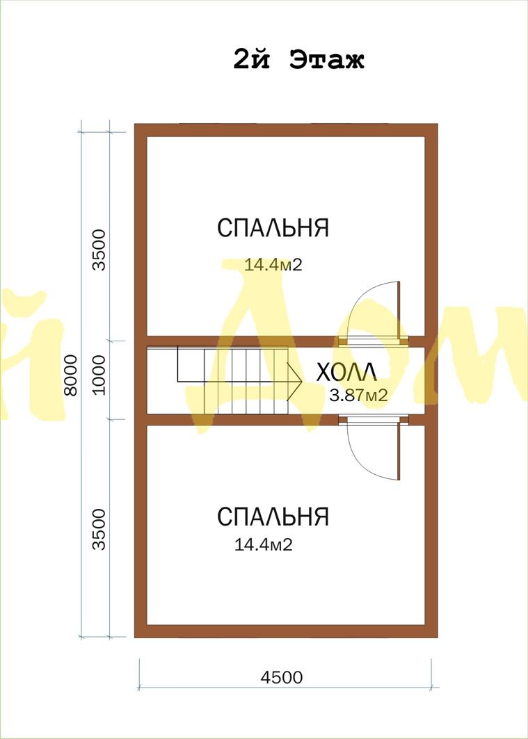 Дом с баней.Проект Д-33-ЛЭ. план