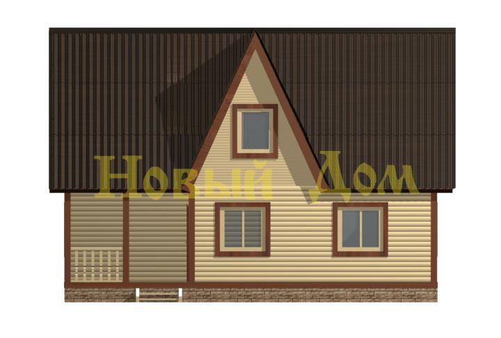 Каркасный дом. Проект Д-36-К. фасад