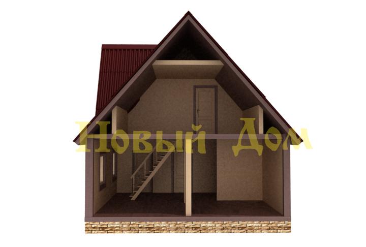Каркасный дом. Проект Д-36-К. план