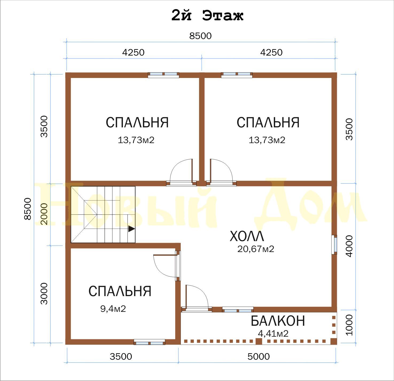 Проект Д-55-КЭ, план
