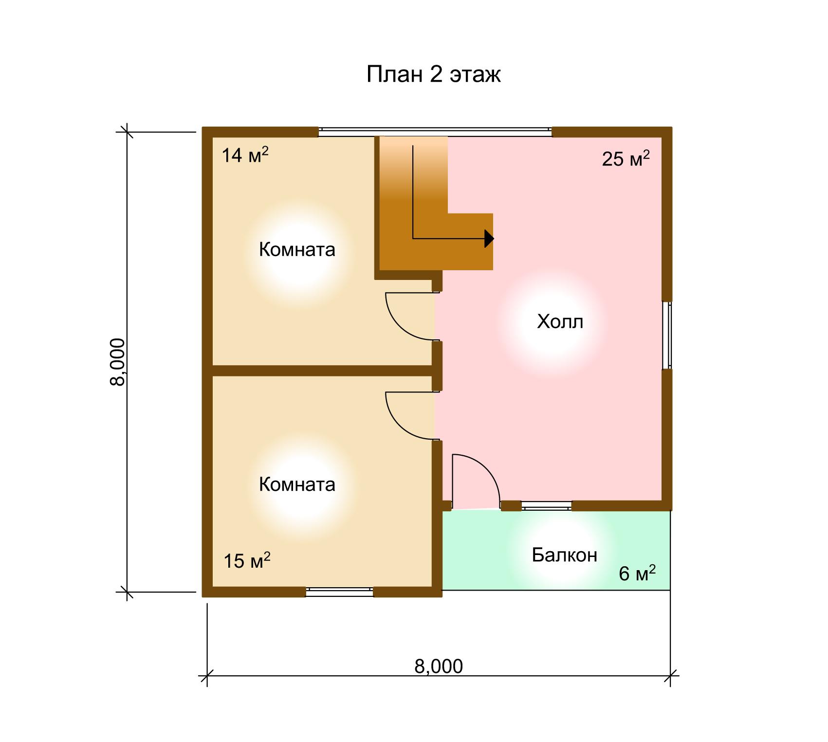 Каркасный дом. Проект К-3. план