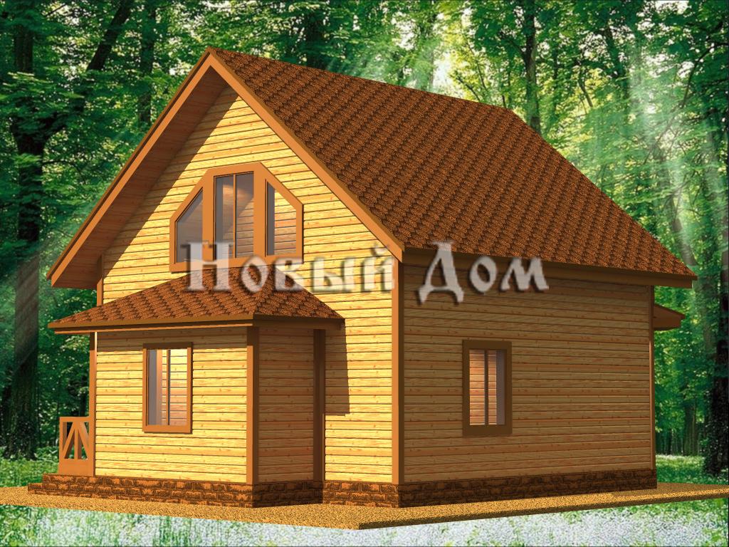 Каркасный дом. Проект К-3. фасад