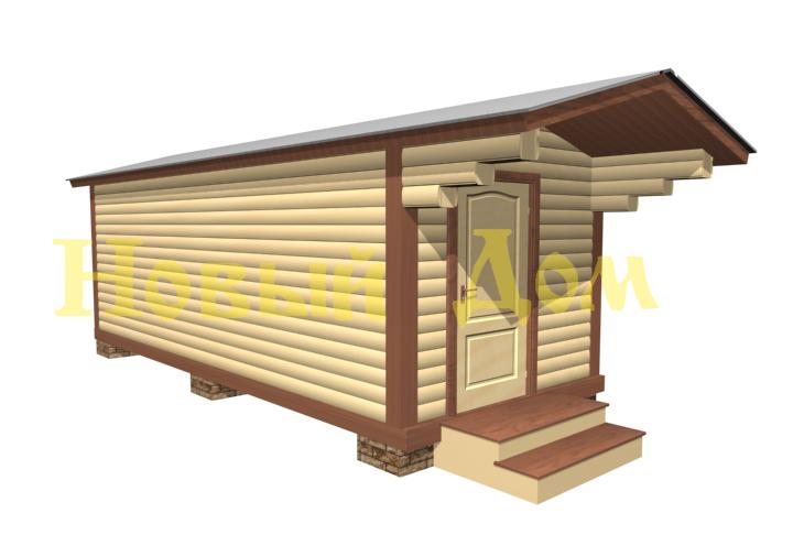 Мобильная баня. Проект Б-1-К. фасад
