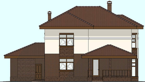 Проект дома 4m593 фасад
