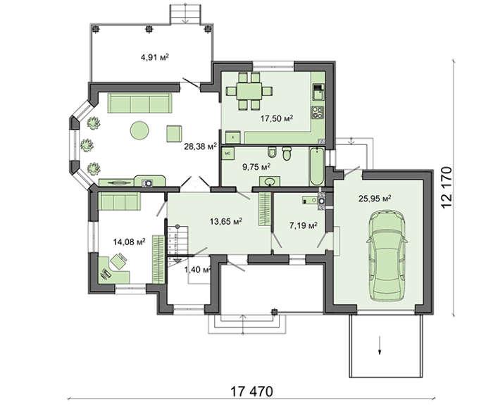 Проект дома 4m593 план