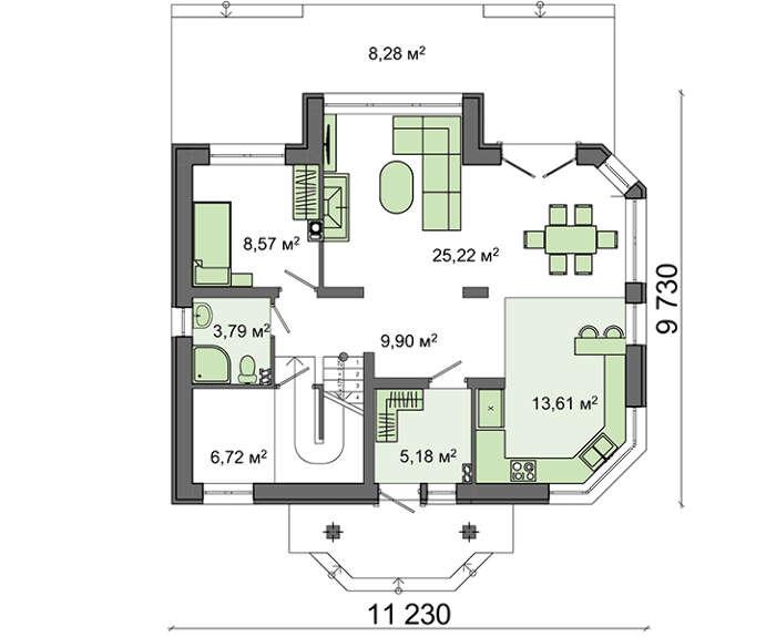 Проект дома 4m641 план