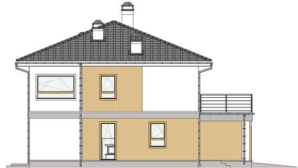Проект дома 4m591 фасад