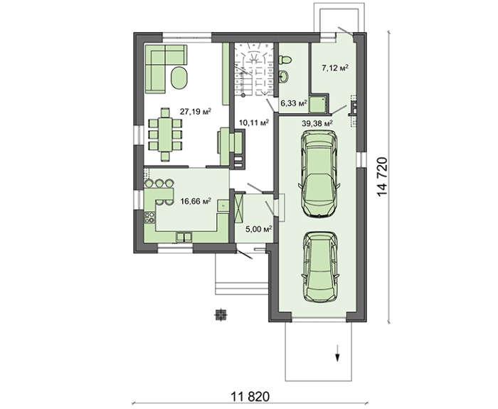 Проект дома 4m591 план