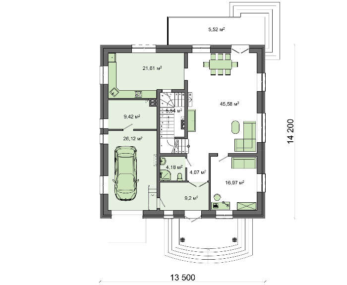 Проект дома 4m595 план