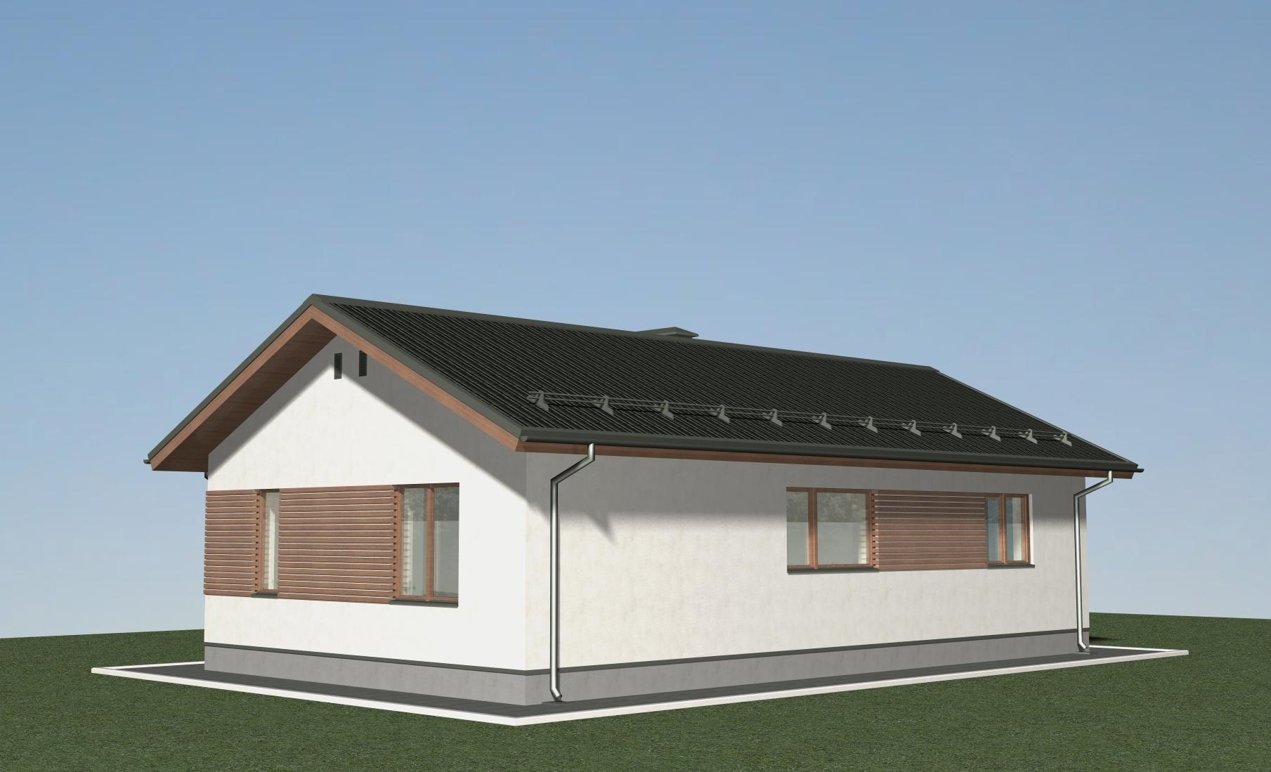 Проект небольшого одноэтажного дома Б-05-18 фасад