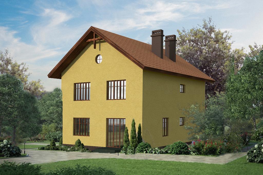 Готовый проект дома 164 кв.м // Артикул ИЛ-124 фасад