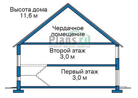 Проект кирпичного дома 40-12 план