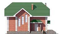 Проект кирпичного дома 40-13 фасад