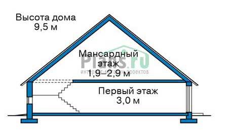 Проект кирпичного дома 40-13 план