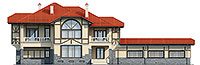 Проект кирпичного дома 40-21 фасад