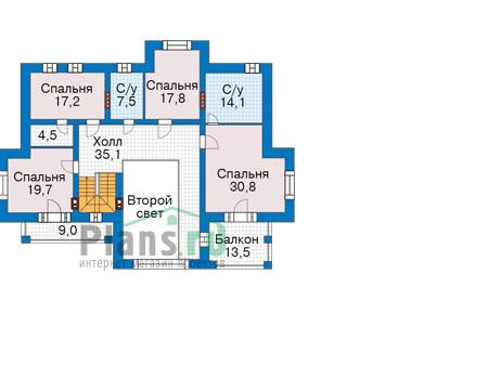 Проект кирпичного дома 40-21 план