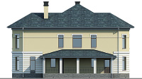 Проект кирпичного дома 40-28 фасад