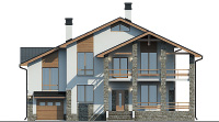 Проект кирпичного дома 40-35 фасад