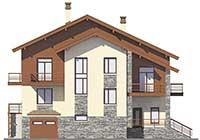 Проект кирпичного дома 40-43 фасад
