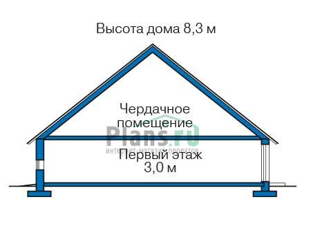 Проект кирпичного дома 40-51 план