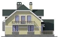 Проект кирпичного дома 40-54 фасад